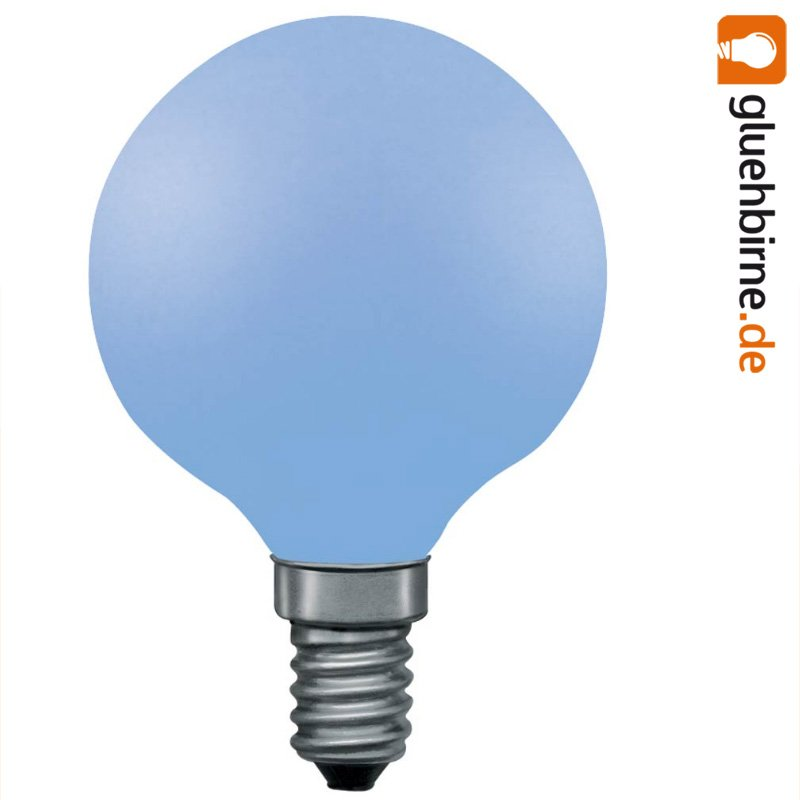 1 x paulmann globe gl hbirne 25w e14 blau softone g60 60mm gl uu. Black Bedroom Furniture Sets. Home Design Ideas