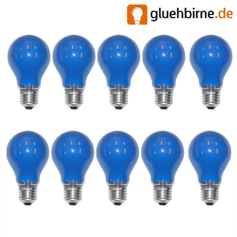 10 x gl hbirne 25w e27 blau gl hlampe 25 watt gl hbirn. Black Bedroom Furniture Sets. Home Design Ideas