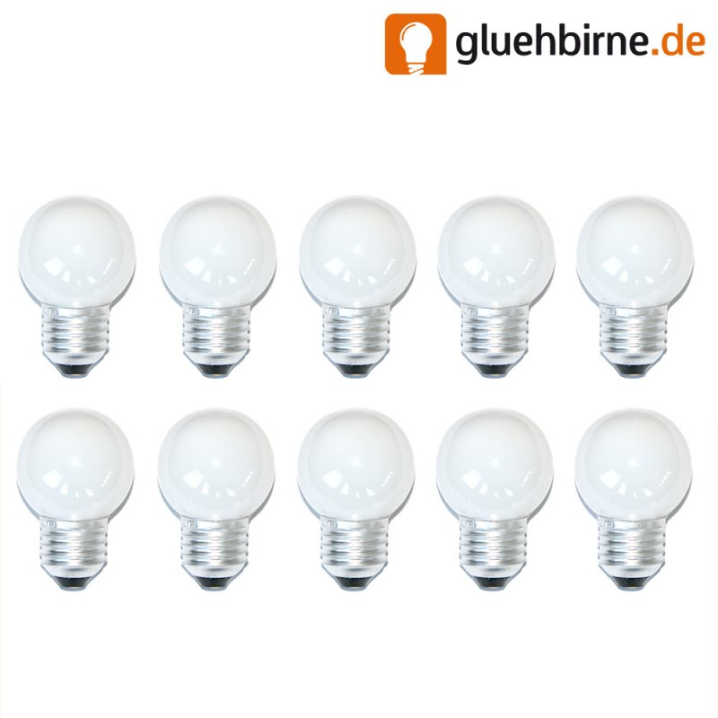 10 x gl hbirne gl hlampe tropfen 40w 40 watt e27 opal weiss. Black Bedroom Furniture Sets. Home Design Ideas