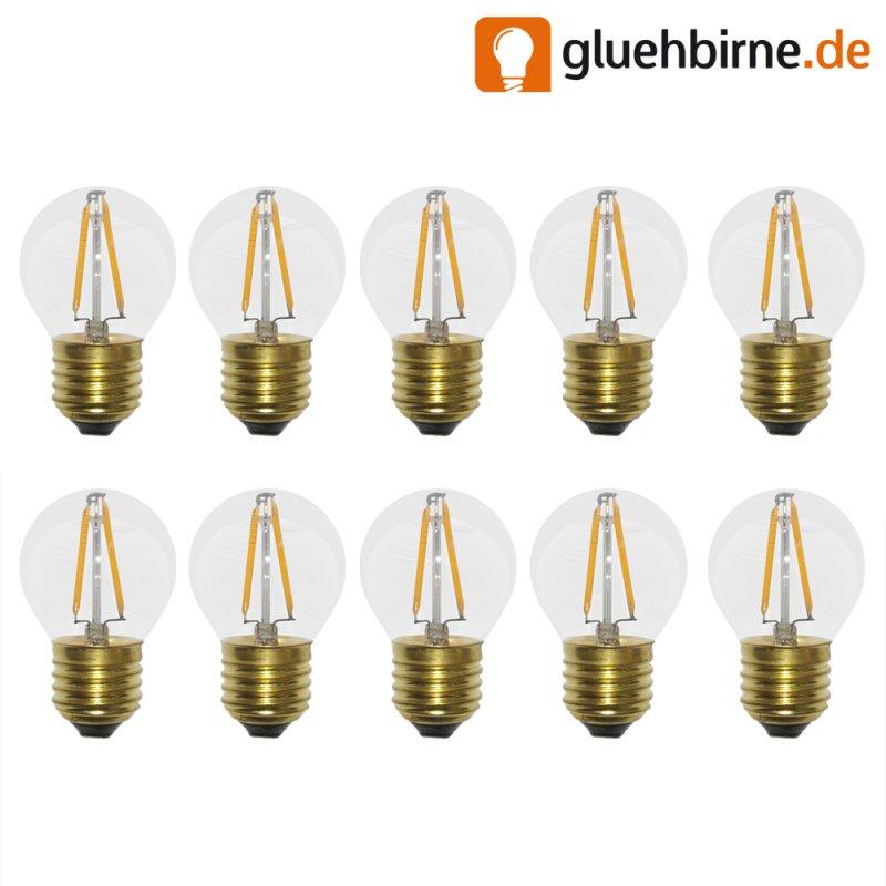 10 x led filament tropfen gl hbirne 2w 25w e27 klar gl hlampe 220lm. Black Bedroom Furniture Sets. Home Design Ideas