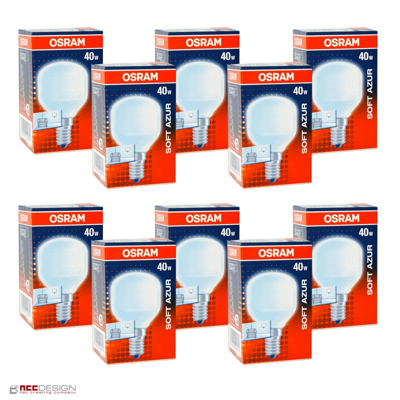 10 x osram tropfen soft azur 40w e14 matt gl hbirne gl hlam. Black Bedroom Furniture Sets. Home Design Ideas