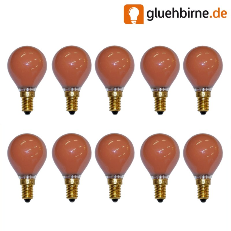 10 x tropfen gl hbirne rot 15w e14 matt gl hlampe 15 watt g. Black Bedroom Furniture Sets. Home Design Ideas