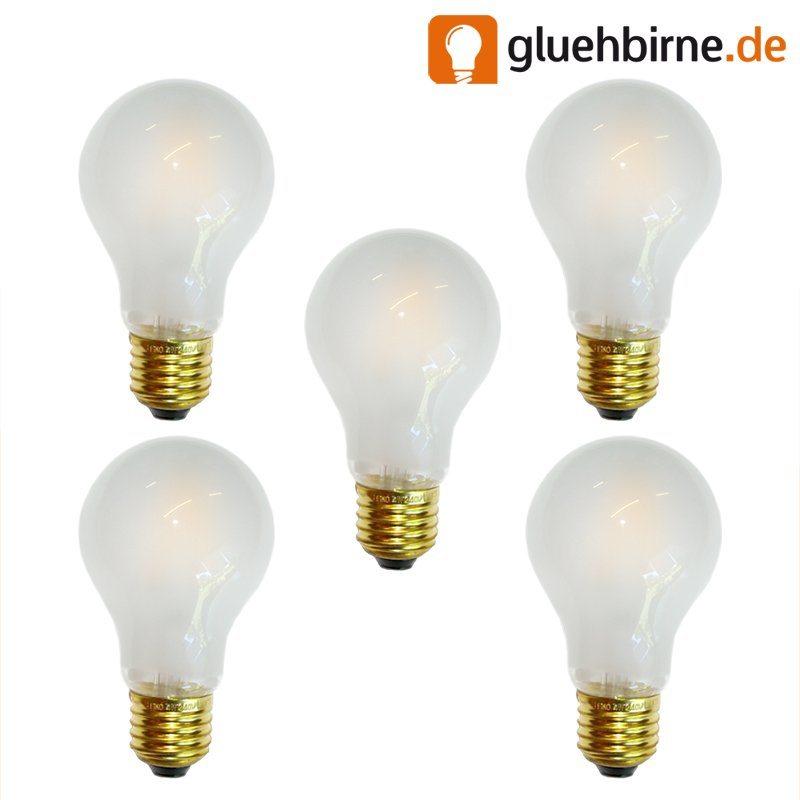 5 x led filament 4w 40w e27 matt gl hlampe gl hbirne gl u. Black Bedroom Furniture Sets. Home Design Ideas
