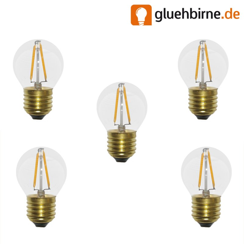 5 x led filament tropfen gl hbirne 2w 25w e27 klar gl hlampe 220lm. Black Bedroom Furniture Sets. Home Design Ideas