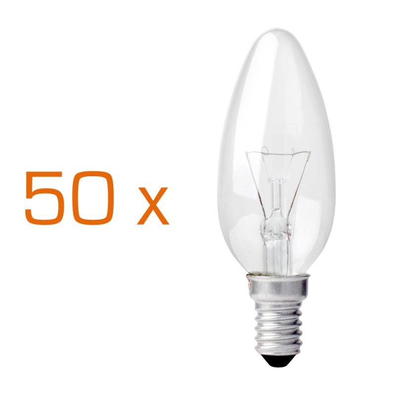 Glühbirne E14 25 Watt : 50 x gl hbirne kerze 25w e14 klar gl hlampe 25 watt gl ~ Watch28wear.com Haus und Dekorationen