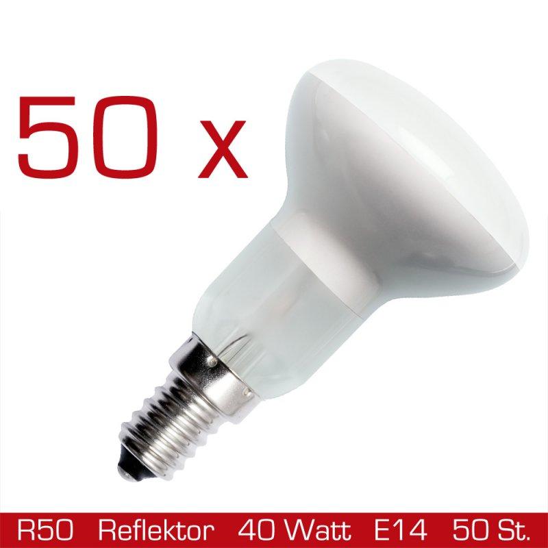 50 x reflektor gl hbirne r50 40w gl hlampe e14 reflektorlam. Black Bedroom Furniture Sets. Home Design Ideas