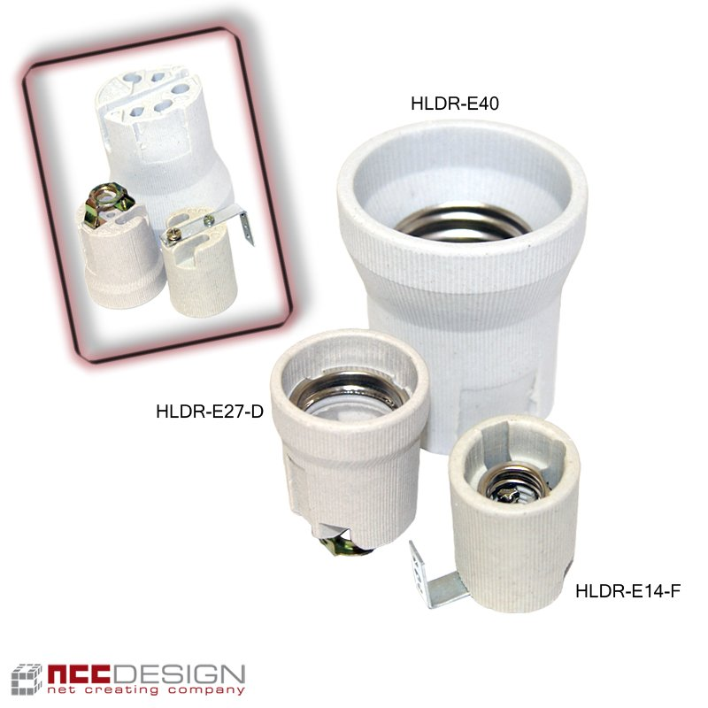 fassung porzellan keramik e14 e27 e40 sockel led b gel. Black Bedroom Furniture Sets. Home Design Ideas