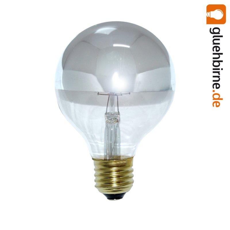 led filament globe kopfspiegel silber gl hbirne g80 4w 40w e27. Black Bedroom Furniture Sets. Home Design Ideas