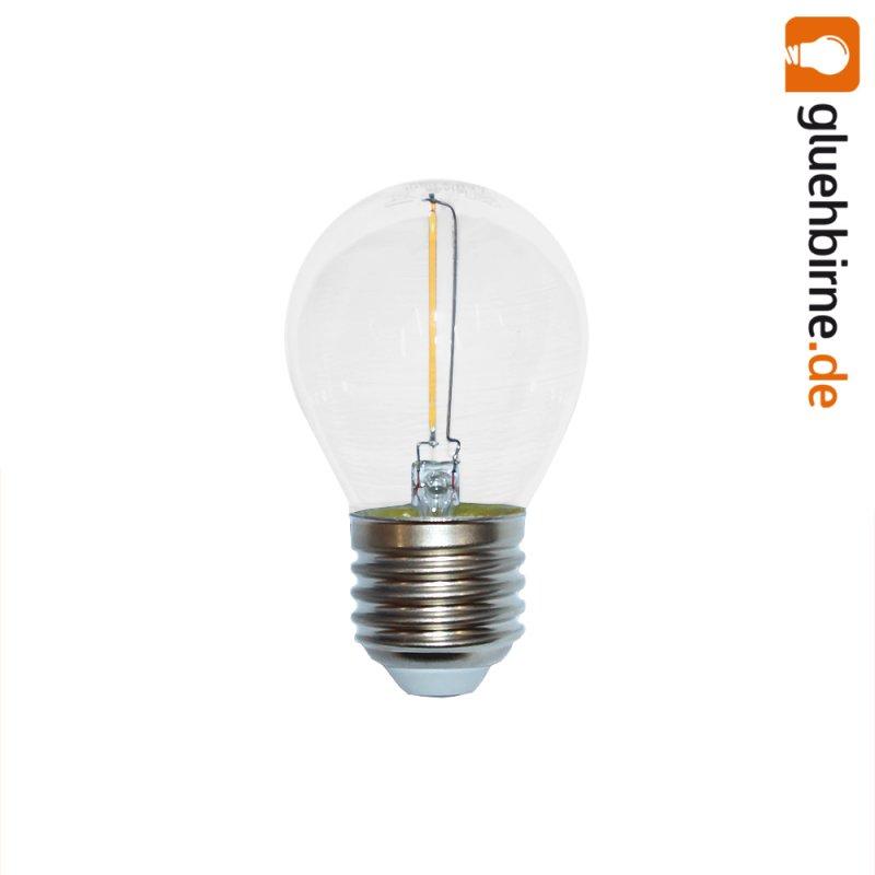 led filament tropfen gl hbirne 1w fast wie 15w e27 klar gl. Black Bedroom Furniture Sets. Home Design Ideas