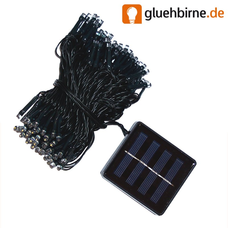 led solar lichterkette warmwei 100 leds f r den au. Black Bedroom Furniture Sets. Home Design Ideas