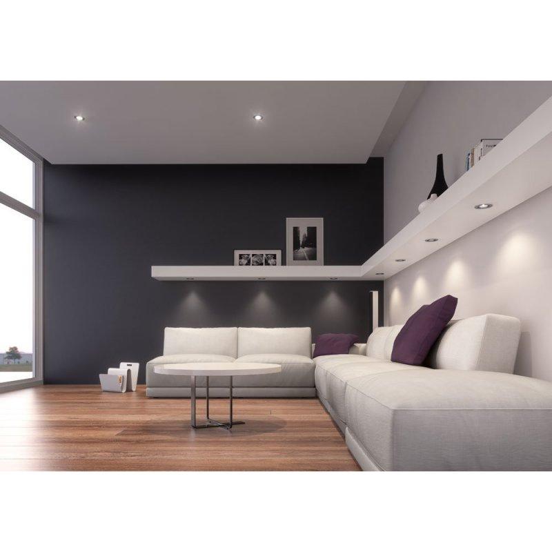 4 x osram led einbauleuchte ivios 6 5w geh use chrom lichtfarbe - Illuminazione a led per mobili ...
