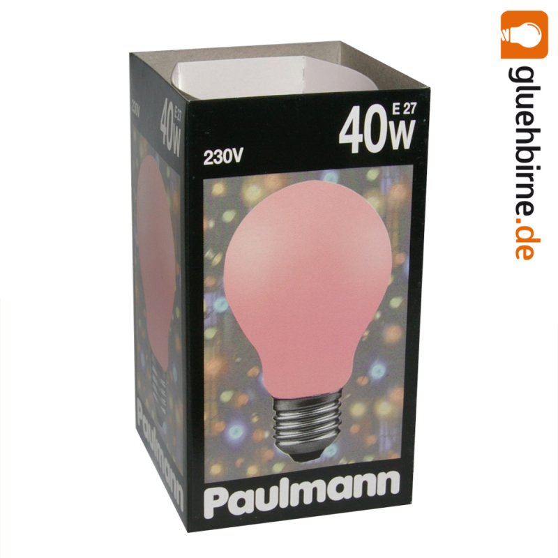 paulmann gl hbirne 40w softone rot 40 watt e27 gl hlampe gl. Black Bedroom Furniture Sets. Home Design Ideas