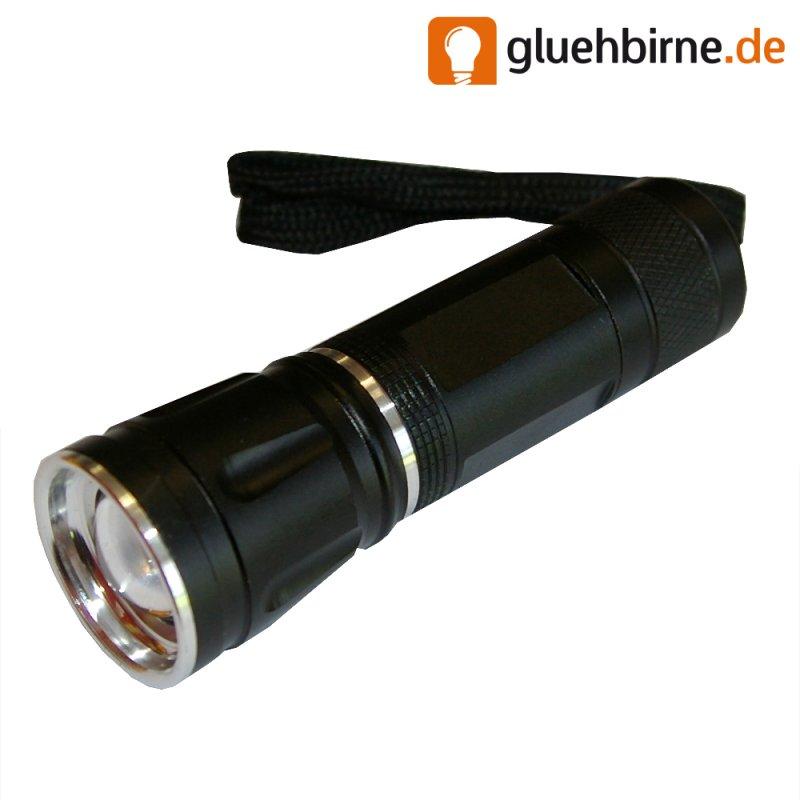 tsl led taschenlampe cree chip 3w zoom trageschlaufe 3 watt blitzfunk. Black Bedroom Furniture Sets. Home Design Ideas