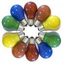 Gluehbirnen Gluehlampen farbig gemischt bunt party mix