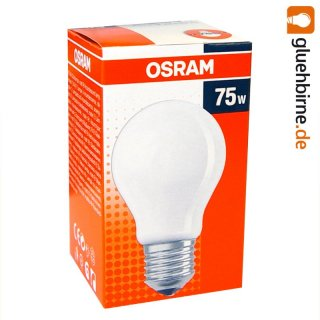 1 x osram gl hbirne 75w e27 matt gl hlampe 75 watt gl. Black Bedroom Furniture Sets. Home Design Ideas