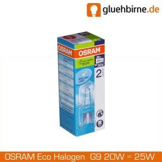 1 x osram g9 eco halogen stiftsockellampe 230v 20w 25w halogenlampe. Black Bedroom Furniture Sets. Home Design Ideas