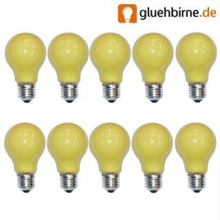 10 x gl hbirne 25w e27 gelb gl hlampe 25 watt gl hbirn. Black Bedroom Furniture Sets. Home Design Ideas