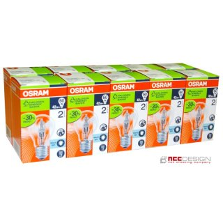 10 x osram halogen eco gl hbirne 42w 60w e27 gl hlampe kl. Black Bedroom Furniture Sets. Home Design Ideas