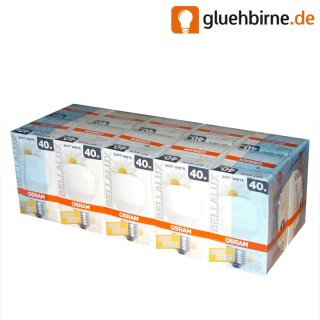 10 x osram gl hbirne 40w matt e27 opal soft white bella. Black Bedroom Furniture Sets. Home Design Ideas