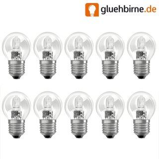 10 x osram halogen eco tropfen gl hbirne 46w 60w e27 gl h. Black Bedroom Furniture Sets. Home Design Ideas