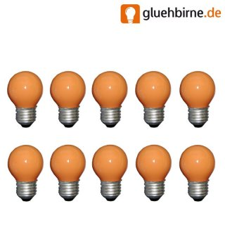 10 x tropfen orange 25w e27 matt gl hbirne gl hlampe 25 wat. Black Bedroom Furniture Sets. Home Design Ideas