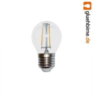 led filament tropfen gl hbirne 4w fast wie 40w e27 klar gl. Black Bedroom Furniture Sets. Home Design Ideas