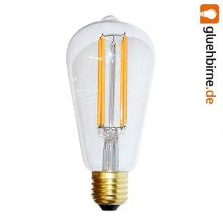 led rustika filament edison gl hbirne 4w e27 extra warm. Black Bedroom Furniture Sets. Home Design Ideas