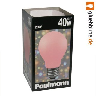 paulmann gl hbirne 40w softone rot 40 watt e27 gl hlampe gl. Black Bedroom Furniture Sets. Home Design Ideas