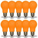 10 x LED Leuchtmittel Birnenform 3W = 25W E27 ORANGE...