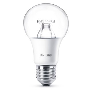 Philips LED Leuchtmittel WarmGlow 6W = 40W E27 klar A60 warmweiß 2200K - 2700K DIMMBAR