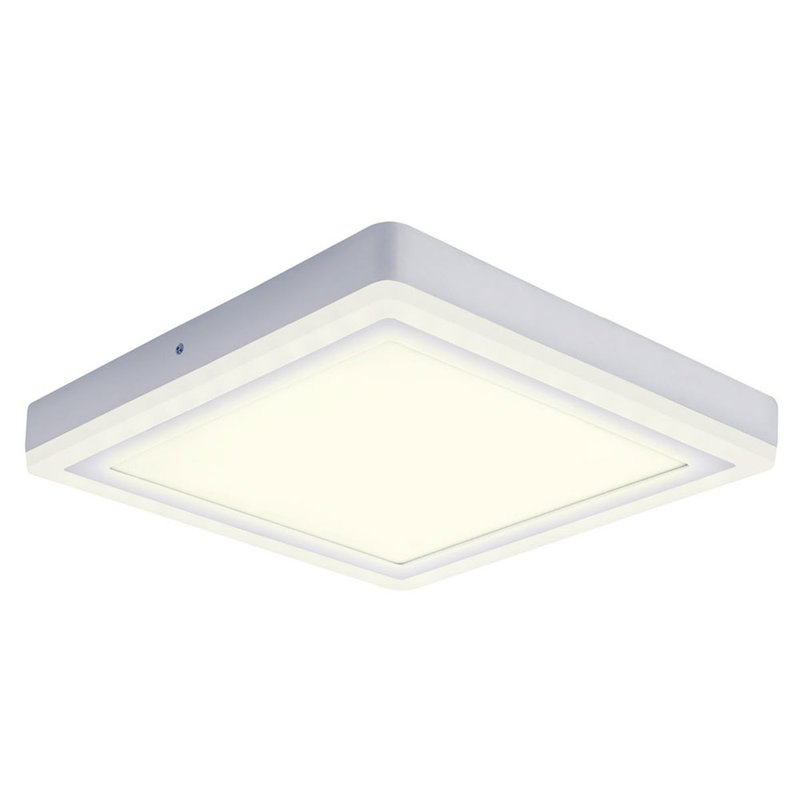 Osram led wand deckenleuchte click white square sq 18w for Wand deckenleuchte led
