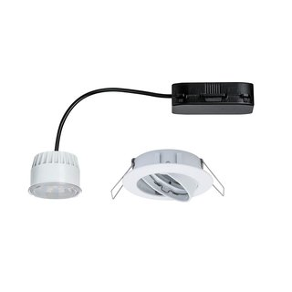 Paulmann LED Einbauleuchte Set Premium Line Weiß matt IP23 6,8W LED Modul Coin warmweiß