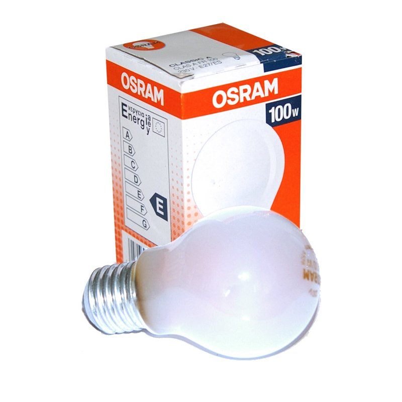 1 x osram gl hbirne 100w e27 matt 100 watt gl hlampe gl uum. Black Bedroom Furniture Sets. Home Design Ideas