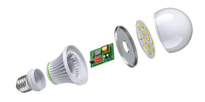 Aufbau eines LED Leuchtmittels
