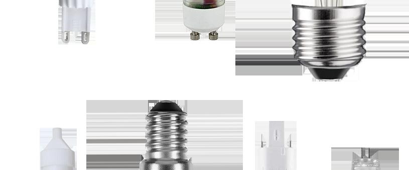Verschiedene LED Leuchtmittelsockel
